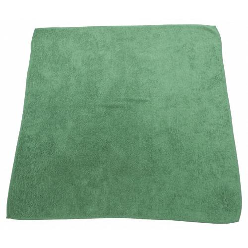 Green Microfiber Towel: 16x16IN. Green Microfiber Towel