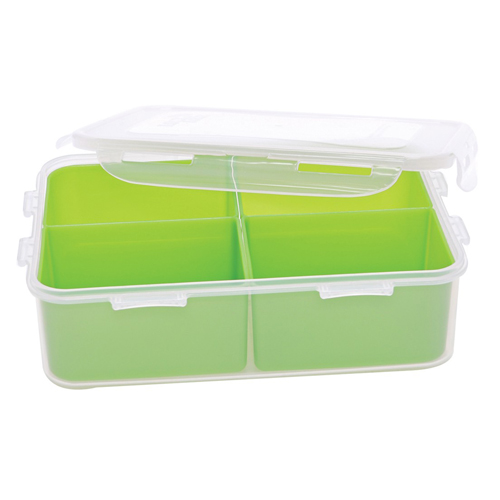 1 6l plastic bento lunch container with locking lid tap for Decor 6l container